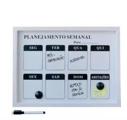 Lousa Magnética Calendário Semanal - 30x40cm