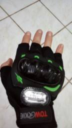 Luva meio dedo com proteção ciclista/bike