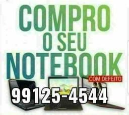 Compr0 Notebooks com defeito, quebrado etc