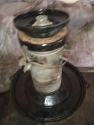 Gerador,base do gerador,polia ,ventoinha e relé de voltagem do fusca Brasília ou combi