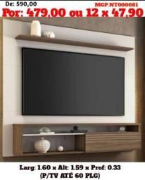 Painel de televisão até 60 Plg- Painel Sala de Estar- Painel de TV- Saldão Foz