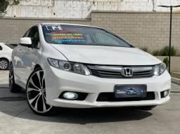 Honda Civic 2014 Automático! Bancos em couro. O Mais bonito da Web!!!