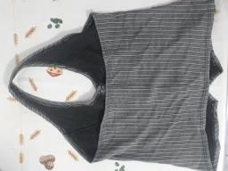 Título do anúncio: conjunto social blusa e saia tamanho g