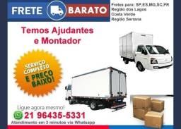 Mudanças Rio e Grande Rio / Caminhões de 3.5mts e 6mts (grande)