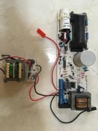 Cerca eletrica com fonte