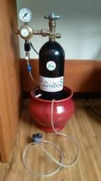 Kit De Co2 Completo Aquário Plantado C/ Solenóide + Brinde