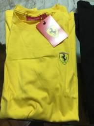 Camisa de malha Ferrari masculina G e GG