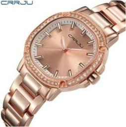 Relógio Feminino Luxo Analógico Quartzo A Prova Dágua 30m