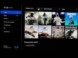Xbox one s 500 gigas de memória com 1 controle varios jogos na memória