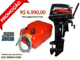 Promoção de Motor de Popa 15 HP Mercury Super