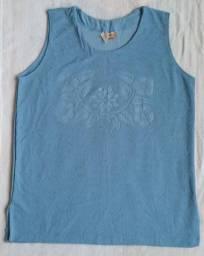 Blusa Feminina - Nova - Tamanho G - Azul Claro 6de21fa1b289c
