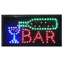 Letreiro Luminoso Painel Placa Pisca Led Luz Escrito Bar 110v