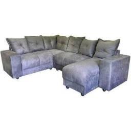 - Sofa de canto luxo com chaise