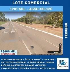 Terreno Comercial - Av. Teotônio Segurado, 1800m², Próximo ao Hotel Italian - 1201 SUL