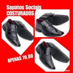 Sapatos sociais de luxo( material costurado)