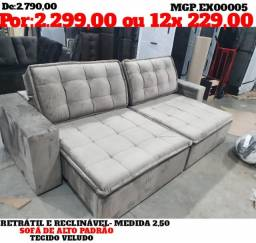 Liquida Presidente Prudente - Sofa Retratil e Reclinavel Alto Padrão 2,50 - Embalado
