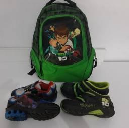 Lote de calçados 25 ao 29+ mochila