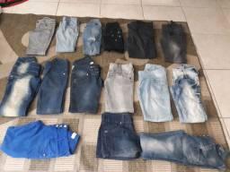 Lote de jeans variados(adulto e criança)