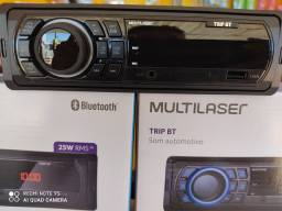 Auto Rádio MULTILASER c/ Bluetooth Usb/Aux/Fm
