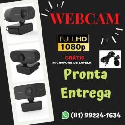 Webcam Usb Câmera Full Hd 1080 1080p (grátis microfone de lapela)