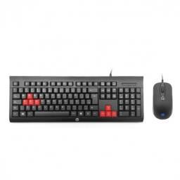 Kit teclado e mouse gamer KM100 - HP | Lacrado com garantia