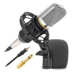 Microfone Condensador Knup Kp-m0021 Profissional Estúdio Anti Vibração