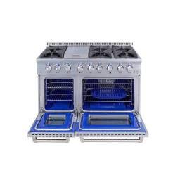 Fogao de piso, fogao em inox, forno duplo, fogao com dois fornos, forgao profissional