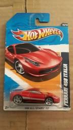 Miniatura Carrinho Hot Wheels Ferrari 458 Italia Lacrado