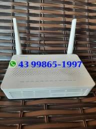 Modem para internet de fibra, dual band, usb, portas gigabit