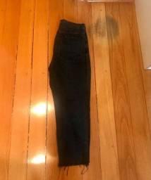 Calça jeans preta masculina H&M nova