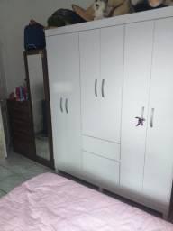 Guarda roupa branco casal 3 portas