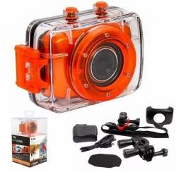 Câmera Sport de ação Vivitar completa com todos acessórios
