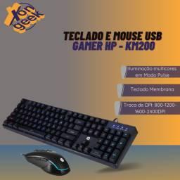 Kit teclado e mouse gamer KM200 - HP | Lacrado com garantia