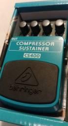 Pedal Behringer CS400 Compressor Sustainer (novo)