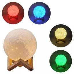 Luminária Lua Decorativa Com Led E Caixa De Som Bluetooth