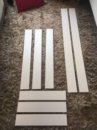 9 peças MDF branco
