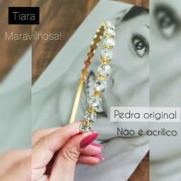 Título do anúncio: Tiara de Cabelo Pedraria Luxo