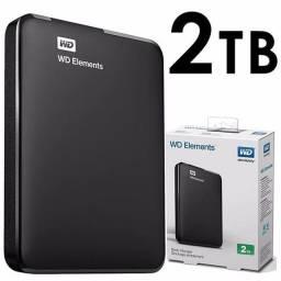 Hd externo  portatil 2TB wd elements