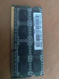 Memória RAM DDR3 notebook 2 GB