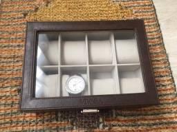 Porta Relógios Vivara em couro