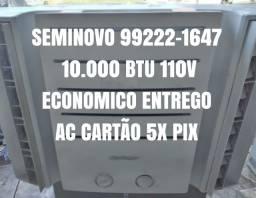 Título do anúncio: Ar Condicionado Seminovo Caixa 10000 110V Lavado Entrego Garantia Economico Cartao 10x Pix