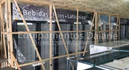 Expositora vertical 5 portas, geladeira porta de vidro p/ bebidas, frios e laticionios