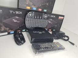 Tv box + teclado 5g atualizado mxq pro 4k <br>