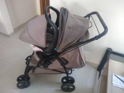 Título do anúncio: Carrinho e Bebê Conforto 9 meses de uso.