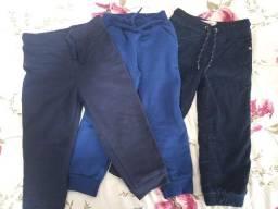 03 calças infantil - tamanho 03 anos
