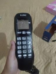 Telefone de parede com identificador