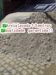 Areia lavada de primeira