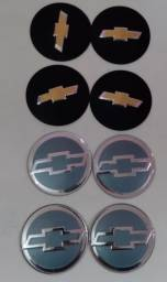 Jogo emblemas GM 70mm para calota