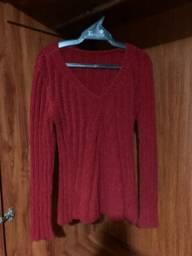 Blusa Manga Longa Vermelha