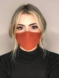 Máscaras de Tricô por 8 reais a parti de 10 unidades